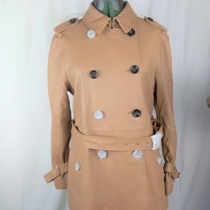 Coach Dylan Short Trench  Leather Jacket